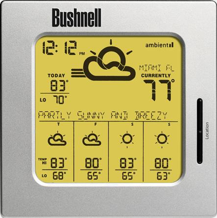 bushnell weather radio