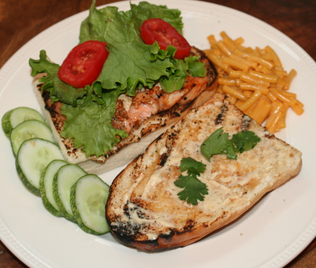 Grilled Salmon Sandwich - Faithful Provisions