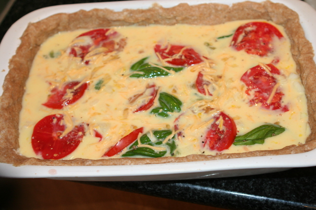 quiche egg layer