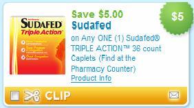 Sudafed coupon
